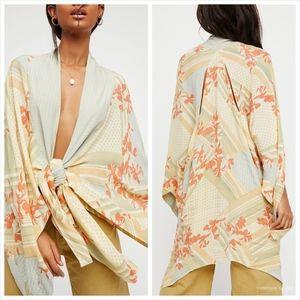 Free People Women's Morning Glory Printed Kimono